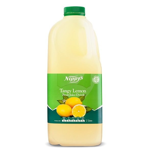 Nippys Fruit Juice Fresh Tangy Lemon 2lt