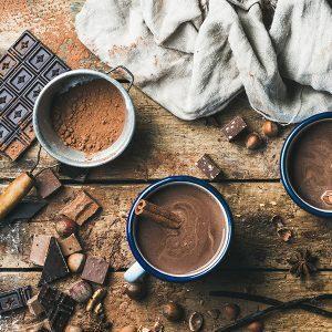 Tea latte drinking chocolate